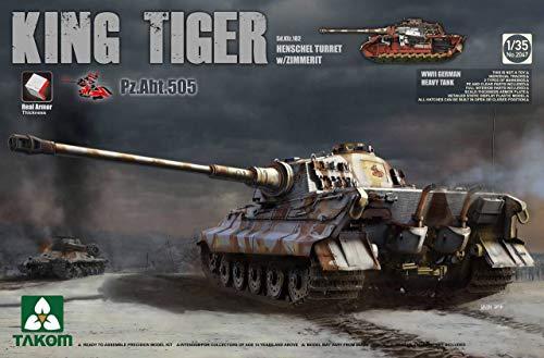(Takom 1/35 Sd.Kfz.182 King Tiger Henschel Turret w/Zimmerit and interior [Pz.Abt.505 special edition] No. 2047)