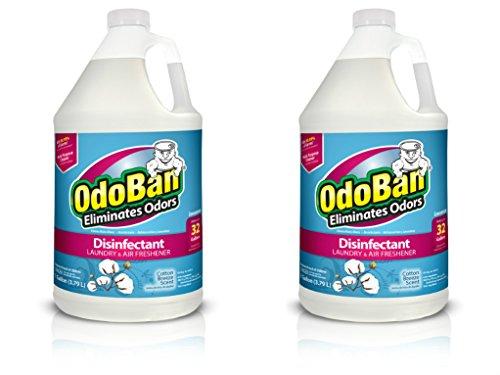OdoBan Multipurpose Cleaner Concentrate, 2 Gal, Cotton Breeze Scent - Odor Eliminator, Disinfectant, Flood Fire Water Damage Restoration