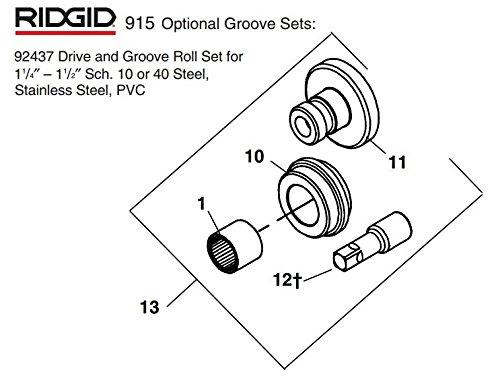 Ridgid 92437 Drive and Groove Roll Set by Ridgid