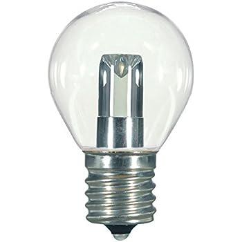 Satco S9167 LED S11 Clear 2700K Intermediate Base Light Bulb, 1W