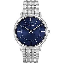 Bulova Men's 96A188XG Classic Collection Quartz Blue Dial 40mm Bracelet Watch (Certified Refurbished)