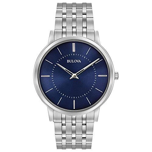 Bulova Men's 96A188XG Classic Collection Quartz Blue Dial 40mm Bracelet Watch (Renewed)