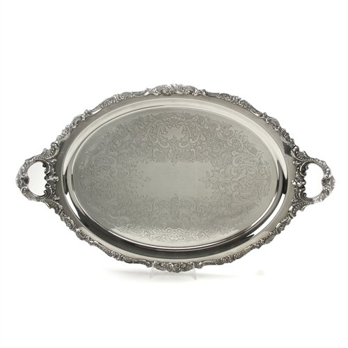 Baroque Silverplate - Baroque by Wallace, Silverplate Tray, Chased Bottom