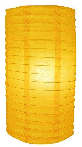 "Quasimoon 8"" Yellow Cylinder Paper Lantern by PaperLanternStore"