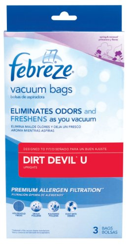 Febreze Dirt Devil U Replacement Vacuum Bag, 3-Pack -
