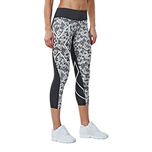 2XU Women's Print Mid Rise Compression 7/8 Tights