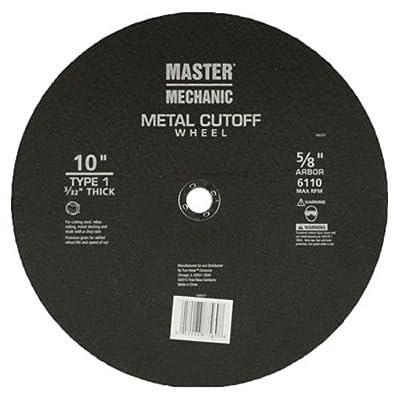 Master Mechanic 160521 10 -Inch x 3/32 -Inch, Cutoff Wheel