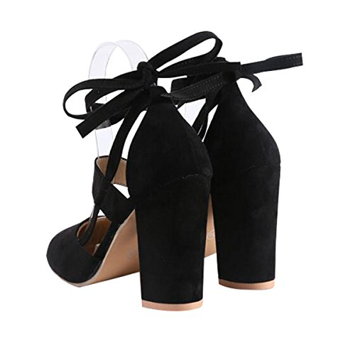 3644137f6 Yellow Tree Company Women High Heel Sandals Closed Toe Pumps Square Heel  Shoes