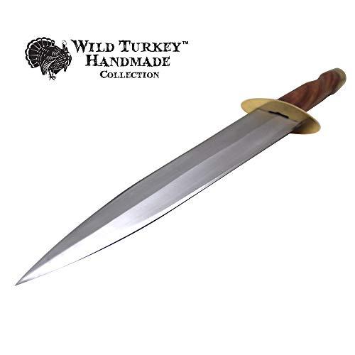 Wild Turkey Handmade Collection Full Tang Fixed Blade Arkansas Toothpick w/Leather Sheath