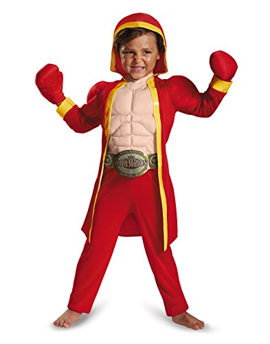 [Disguise 84027M Little Fighter Toddler Muscle Costume, Medium (3T-4T)] (Original Toddler Halloween Costumes)