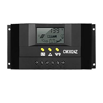 Finether Unique Bargains 12V/24V 30A Panel Charge Solar Battery Charger Controller Regulator