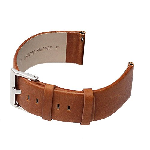 Price comparison product image For Fitbit Blaze Bands, bayite Accessory Leather Wristband for Fitbit Blaze Smart Watch Light Brown Large 6.3 - 8.1 inches