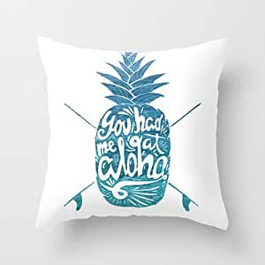 Kissing Rain You Had Me At Aloha! Throw Pillow By Ocean Avefor Your Home