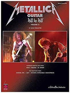 Metallica Guitar: Riff By Riff Volume 2. Partituras para Guitarra ...
