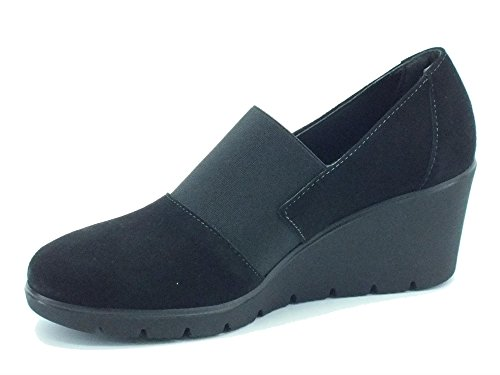 Cinzia Soft decoltè For Women In Black With Suede High Wedge Black TBsagkTAD