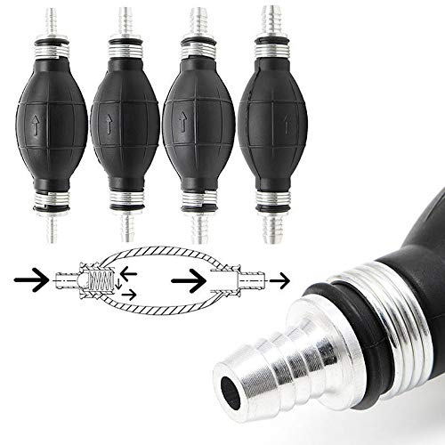6mm Rubber Fuel Transfer Vacuum Fuel Line Hand Primer Pump Bulb Type For All Fuels 2 Pack