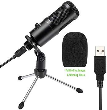 Todo para el streamer: PC Micrófono de Condensador Computadora,Senli USB Micrófono Plug & Play con Soporte Trípode & Filtro Pop para Grabación Vocal, Podcasting,Transmisión