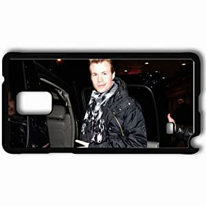 Personalized Samsung Note 4 Cell phone Case/Cover Skin Ashley Parker Angel Light Face Auto Fingers Black