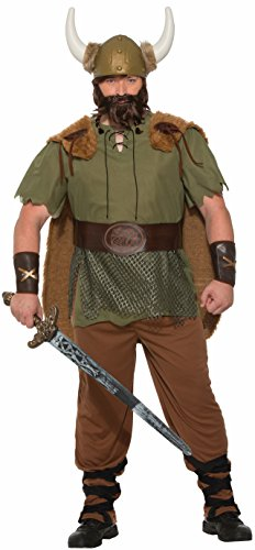 Forum Men's Size Viking Chieftain Costume, Multi/Color, Plus