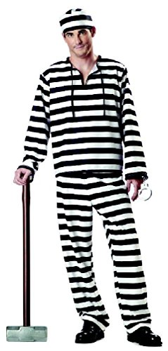 8eighteen Jailbird Prisoner Convict Adult Men Costume (Convict Lady Plus Size Costume)