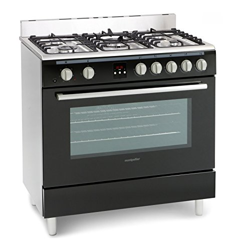 Montpellier MR90DFMK 90cm Dual Fuel Single Oven Range Cooker Black