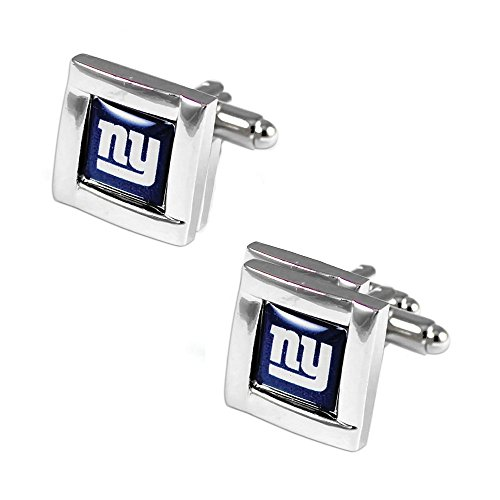 NFL New York Giants Square Cufflinks with Square Shape Logo Design Gift Box Set