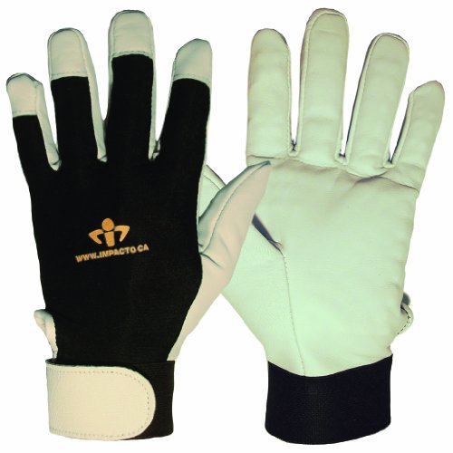 Impacto BG41320 Anti-Vibration Air Glove, Black/White
