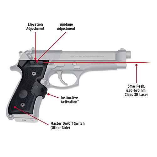Crimson Trace LG-402-M Lasergrips Red Laser Sight Grips for Beretta 92/96/M9 Pistols - MIL-SPEC by Crimson Trace (Image #1)