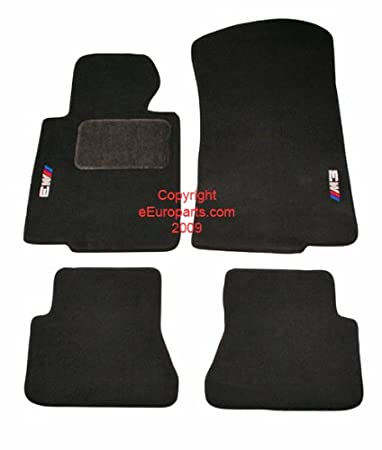 Amazoncom BMW Genuine M Logo Black Floor Mats for E46  3 SERIES