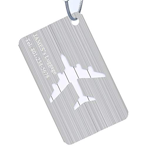 Luggage Tags Personalized, Aluminium Alloy Custom Name Tags for Travel, Newly Web Gifts Groomsman Gifts for Wedding ()