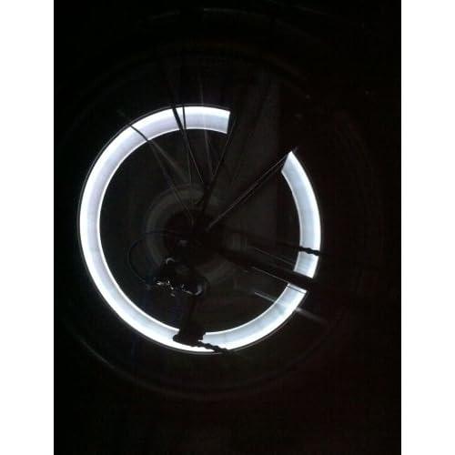 Lot de 2 capuchons lED pour vélo tendance jantes et rayons éclairage blanc-rBrothersTechnologie/brand: rBrothersTechnologie