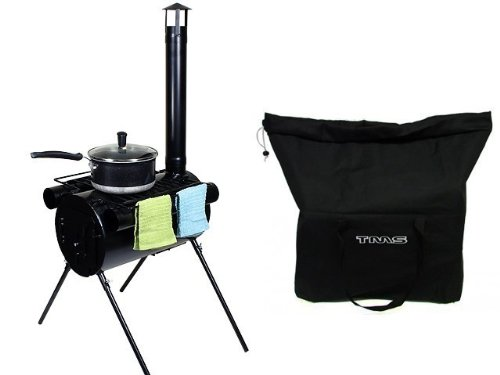 Portable Military Camping Hunting Ice Fishing Cook Wood Stove Tent Heater w/ Bag