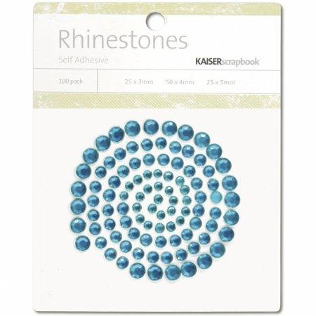 Kaisercraft SB775 Self-Adhesive Rhinestones 100/Pkg-Aquamarine