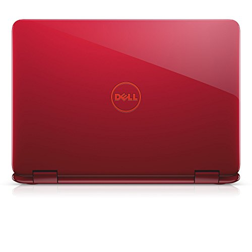 "Dell i3168-0027RED 11.6"" HD 2-in-1 Laptop (Intel Celeron, 2GB, 32 GB SSD, Windows 10) - Red"