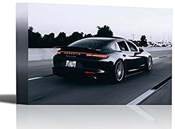 Porsche Panamera Turbo Sport Vehicle Art Print Wall Decor - Canvas Stretched Framed 24 x 36