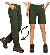 Jessie Kidden Walking Trousers for Wome Ladies Hiking Stretch Lightweight Convertible Zip Off Cap...