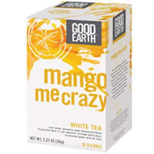 - Good Earth Mango Me Crazy White Tea, 18 Count Tea Bags (Pack of 3)