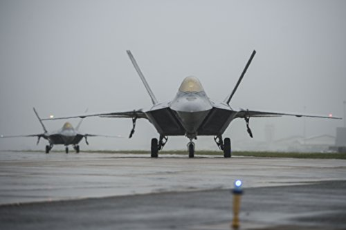 Home Comforts Laminated Poster F-22 Raptors Taxi Down The Runway at Langley Air Force Base, Va, Oct. 1, 2015. Due to projected TID Vivid Imagery Poster Print 24 x - Air Langley Force Base