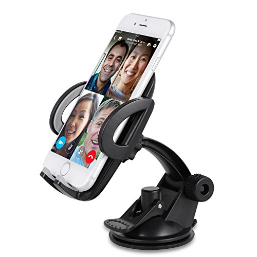 Sundix Car Phone Mount Holder, Universal Car Windshield / Dashboard Phone Mount Holder Cradle with Suction Cup for iPhone 7 7 Plus 6 6S Plus SE Galaxy S7 S6 Edge LG G5 G4 Nexus 5x 6P