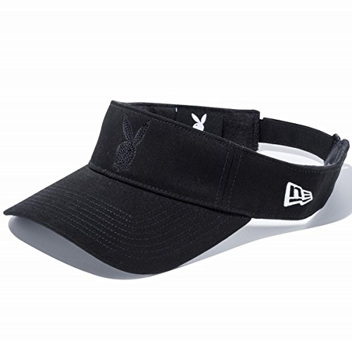 Playboy×New Era プレイボーイ×ニューエラ サンバイザー ゴルフ シークインド ラビットヘッド ブラック ブラック ブラック スノーホワイト 11405366