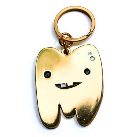Amazon.com: Oro Diente Llavero por I Heart Guts.: Toys & Games