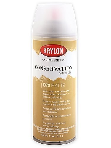 Krylon Gallery Series 11-Ounce Conservation Varnish Aerosol Spray, Gloss by Krylon (Gallery Series Varnish Conservation)