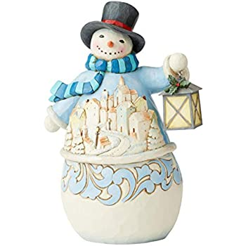 Enesco Heartwood Creek Victorian Snowman with Cape or Cane