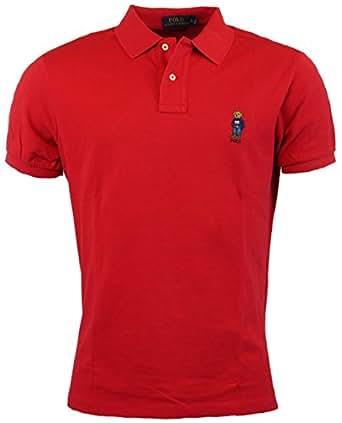Polo Ralph Lauren Mens Classic Fit Bear Logo Polo Shirt