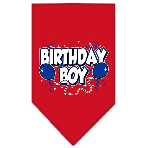(Mirage Pet Products Birthday Boy Screen Print Bandana for Pets, Large, Red)