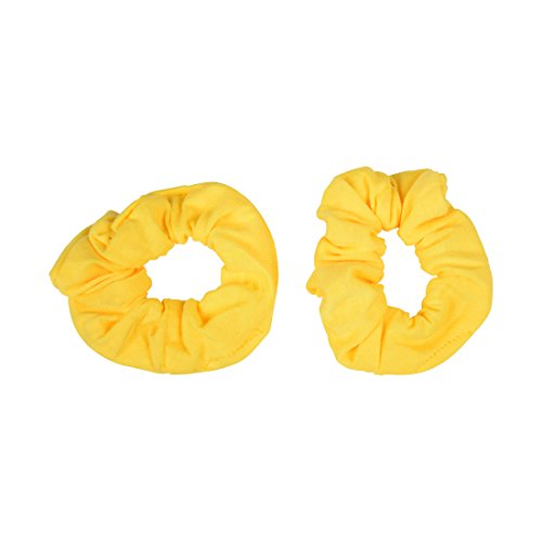 Price comparison product image Set of 2 Solid Scrunchies - Yellow
