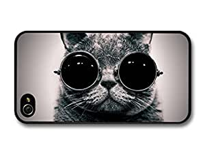Funny Cat Animal Sunglass iPhone 4 4s Case