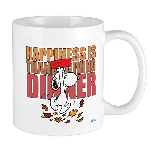 Peanuts Thanksgiving Dinner (CafePress Peanuts Happiness Thanksgiving Dinner Mug Unique Coffee Mug, Coffee)