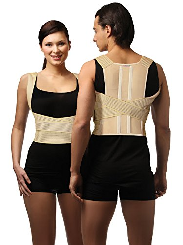 Tonus Elast elastic medical lower back posture corrector, with stiff inserts and enhanced comfort - X-Large