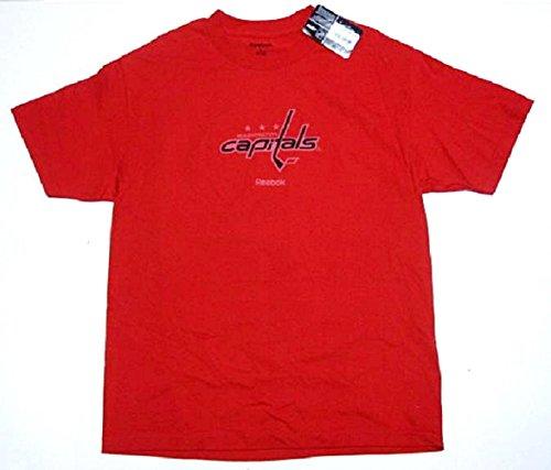 Reebok Washington Capitals Red Prime Logo T Shirt  Large
